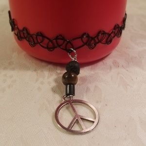 Jewelry - Peace sign tattoo wrist bracelet or Anklet